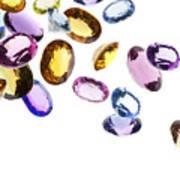 Falling Gems Art Print