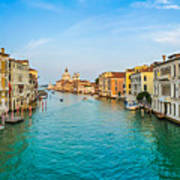 Famous Canal Grande In Venice Art Print