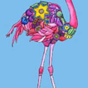Fancy Felicity Flamingo Art Print