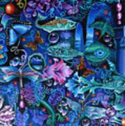 Fantasy Aquarium Art Print