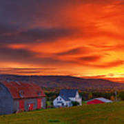 Farm At Sunset In Wentworth Valley Art Print
