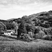 Farmhouse And Surrounding Countryside At Loughrigg Fell And Loughrigg Tarn Near Ambleside Lake Distr Art Print