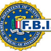 Fbi Seal Mockup Art Print