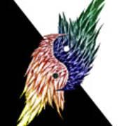 Feathered Ying Yang  Art Print