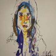 Female Face Study  B Art Print
