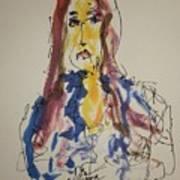 Female Face Study  E Art Print