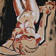 Female Model Art Print by Joanne Claxton