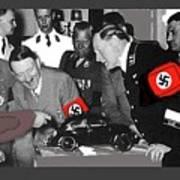 Ferdinand Porsche Showing The Prototype Of The Vw Beetle To Adolf Hitler 1935-2015 Art Print