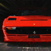 Ferrari 208 Gtb Turbo. Art Print