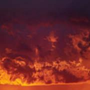Fiery Clouds Print by Michal Boubin