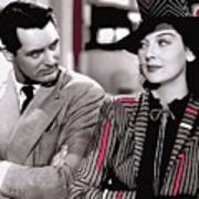 Film Homage Cary Grant Rosalind Russell Howard Hawks His Girl Friday 1940-2008 Art Print
