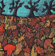 Finding Autumn Leaves Art Print