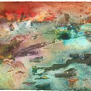 Fire Lake Art Print