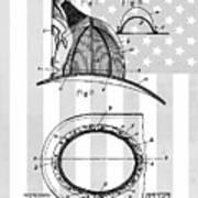 Fireman's Helmet Patent Art Print