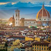 Firenze Duomo Art Print