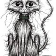 Fish Face The Cat Art Print