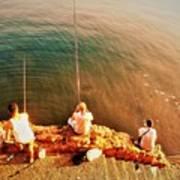 Fishermen In Beirut  Art Print