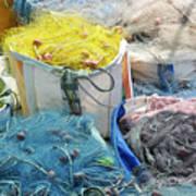 Fishing Industry In Limmasol Art Print