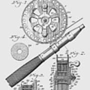 Fishing Reel Patent 1906  Art Print