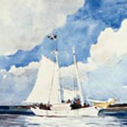 Fishing Schooner Art Print
