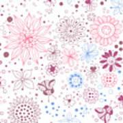 Floral Doodles Art Print