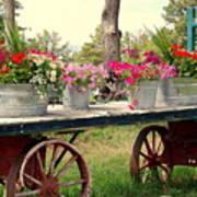 Flower Wagon Art Print
