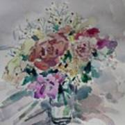 Flowers In A Glass Art Print