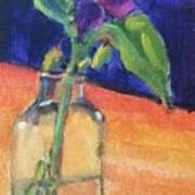 Flowers In Glass Vase Art Print