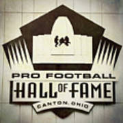 Football Hall Of Fame #1 Art Print