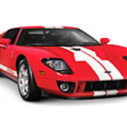 Ford Gt Supercar Art Print