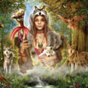 Forest Wolves Art Print