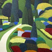 Formal Garden On Canvas Art Print
