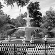 Forsyth Fountain Park Art Print