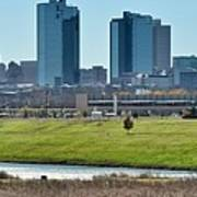 Fort Worth Panorama Art Print