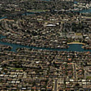 Foster City, California Aerial Photo Art Print