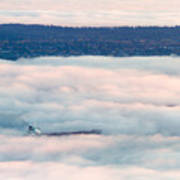 Freighter In The Clouds Art Print