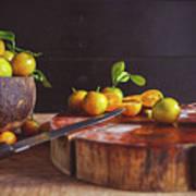 Fresh Kumquat Fruits Art Print