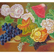 Fruits And Flowers  II. 2006 Art Print