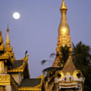 Full Moon In Burma Art Print