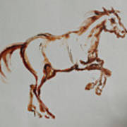 Galloping Horse Art Print