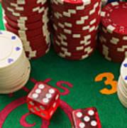 Gambling Dice Art Print