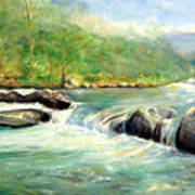 Gatlinburg River Art Print by Max Mckenzie
