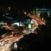 Gatlinburg, Tennessee At Night From The Space Needle Art Print