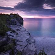Georgian Bay Cliffs At Sunset Art Print