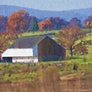 Gettysburg Barn Art Print by Bill Cannon