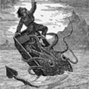 Giant Squid, 1879 Art Print