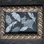 Ginko Leaves And Feathers Art Print
