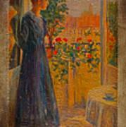 Girl At The Window Art Print