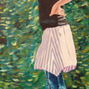Girl On The Bridge Art Print