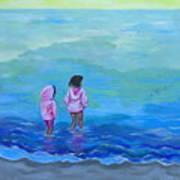 Girls In Pink Art Print